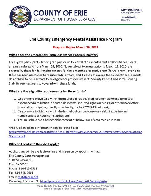 Emergency Rental Assistance Program information